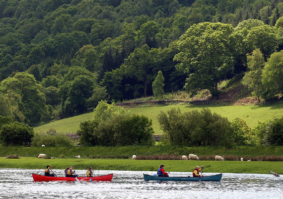 Kayaking in Snowdonia National Park